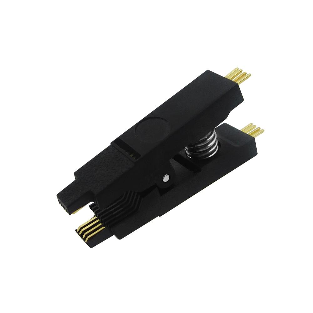 1PCS Programmer Testing Clip SOP8 SOP SOIC 8 SOIC8 DIP8 DIP 8 Pin IC Test Clamp запчасти для принтера yinke sop8 dip8 2 so8 soic8 enplas ic 5 4 1 27 ic programming adapter
