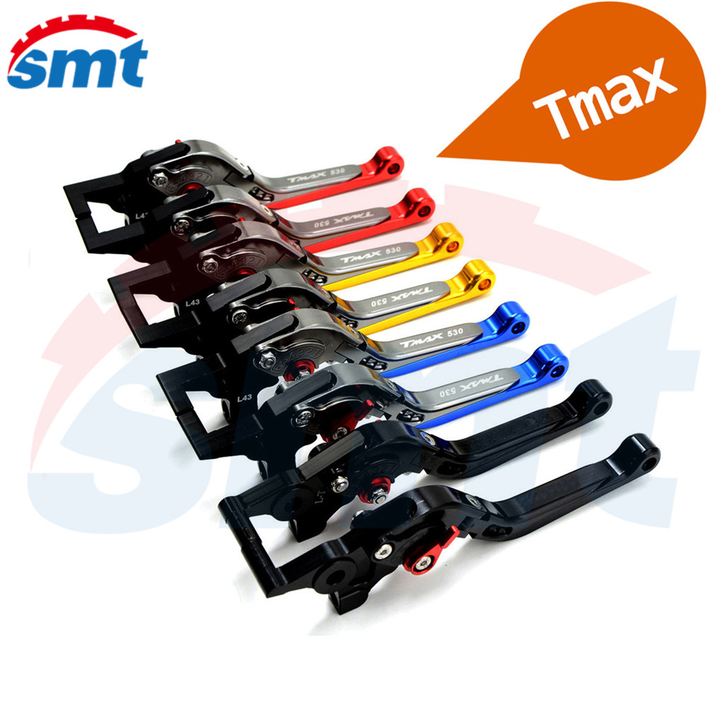New Motorcycle CNC Folding&Extending Brake Clutch Levers Blue Color FOR YAMAHA TMAX 530 TMAX530 T-MAX530 T-MAX 530 2003-2007 for yamaha tmax tmax530 t max t max530 530 xp530 red blue new style blue logo motorcycle adjustable short brake clutch levers