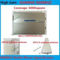 Прямые Маркетинг Sunhans GSM 900 мГц 5000 квадратных метров 3 Вт (35dBm) усиления 85db GSM сотовый телефон усилитель повторитель + 30 шт. комнатная антенна
