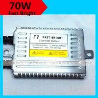 2X70 W התחלה מהירה קסנון hid נטל hid מהיר הבהיר DLT F7 slim מתכת נטל על H7 H7R 9012 H15 H4 H11 מהר יותר מאשר הלוגן