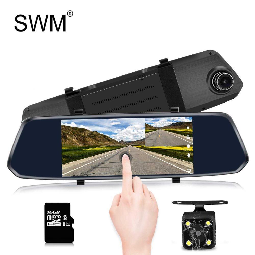 Dashcam 360 Rear View Camera Car DVR 7 Dual Lens Avtoregistrator Mirror Recorder Hd Rearview Cam