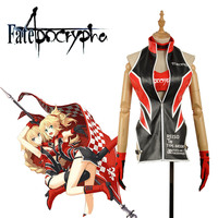 Amine Fate Apocrypha FA Racing Suits Ruler Joan of Arc Jeanne d'Arc Mordred Racing Suits Cosplay Costume With Tube Top Underwear