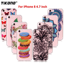 Silicone Phone Case For iPhone 8 Case 4.7 Cute Soft TPU Case For iPhone 8 Phone Bag Cover Back Cases Capa Coque Fundas for Girl