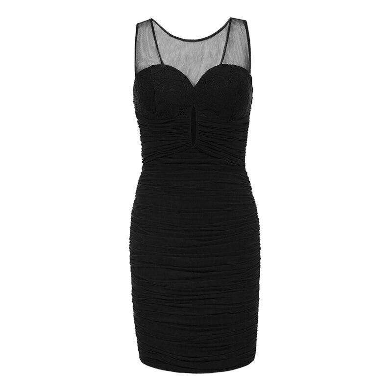 4fa245481 Aliexpress.com  Comprar Tanpell cóctel cuello v blanco sobre la rodilla  plisados vestido recto mujeres baratas negro partido fiesta vestidos de  coctel ...