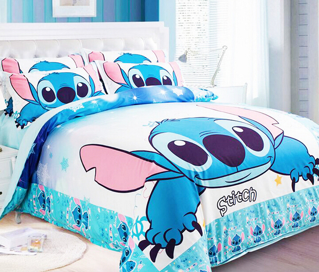 New Lilo Amp Stitch Bedding Sets Blue Boys Bed Set Designer