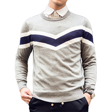 High Quality Autumn Fashion Brand Casual Sweater 0-Neck Patchwork Thick Warm Slim Fit Knitting Mens Sweaters And Pullovers