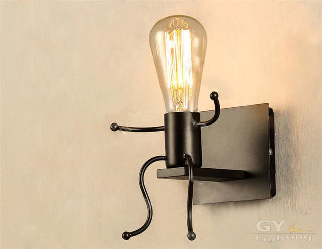 Wrought Iron Bedside Lamps Aliexpress  Buy American Country Vintage Wrought Iron Wall .