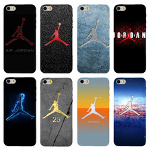 Fashion sports brand Jordan logo phone cases for Apple iPhone 4 4s 5 5s 5c 6 6s 6plus 6splus case high-quality PC hard cover