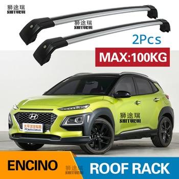 SHITURUI 2 Adet Çatı barlar Hyundai ENCINO SUV 2017 + Alümİnyum Alaşim Yan Barlar Çapraz Raylar portbagaj Bagaj Taşıyıcı