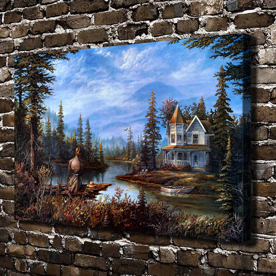A0595 Greg Benson Quiet Moment Landscape .HD Canvas Print Home decoration Art painting Living Room Bedroom Wall pictures