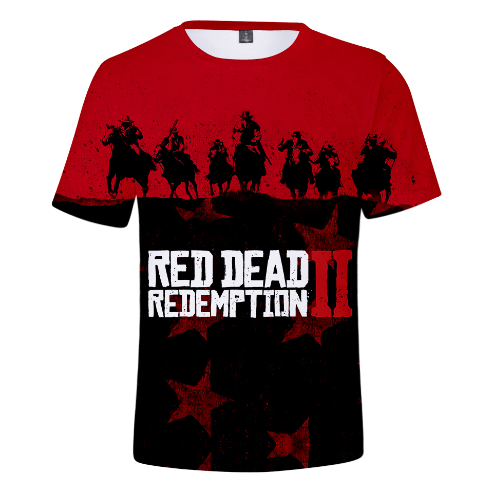Tops & Tees T-shirts New Game Short T-shirt Women/men 3d Red Dead Redemption 2 T-shirt Fashion Casual 3d Funny T-shirt Bringing More Convenience To The People In Their Daily Life