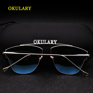 Image 5 - 2020 Women Polarized Sunglasses Blue/Pink/Silver Lens UV400 Metal Frame Lady Sunglasses With Box