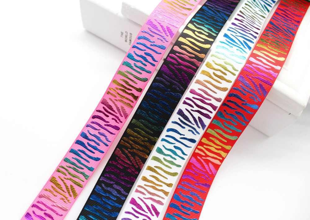 1 Inch 25 Mm Nhiều Màu Sắc In Grosgrain Nơ Thiết Kế Hình Thú Thủ Công Cho Tóc Cung Tên Bọc Trang Trí Phụ Kiện