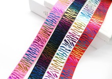 1 inch 25mm Colorful Stripe Printed Grosgrain Ribbon Animal Design Craft for Hair Bows Wrap Decor Accessories