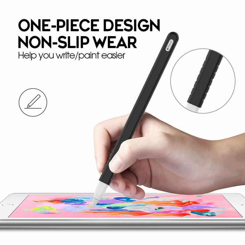 Ốp Lưng Silicon Cho Apple Pencil 2nd Thế Hệ Bảo Vệ Cho Ipencil 2 Tay Cầm Ốp Da Giá Đỡ Cho iPad Pro 11 12.9 Inch