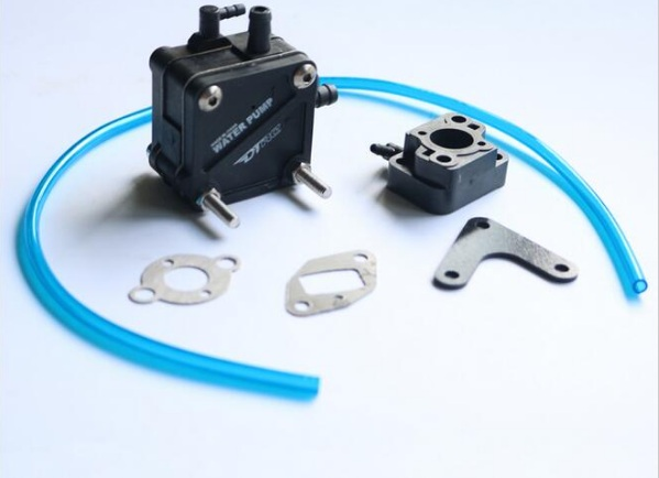 Water Pump C/W carburetor insulator for ZENOAH RCMK Engine RC Gas Boat baja rc reed valve system for cy zenoah engine