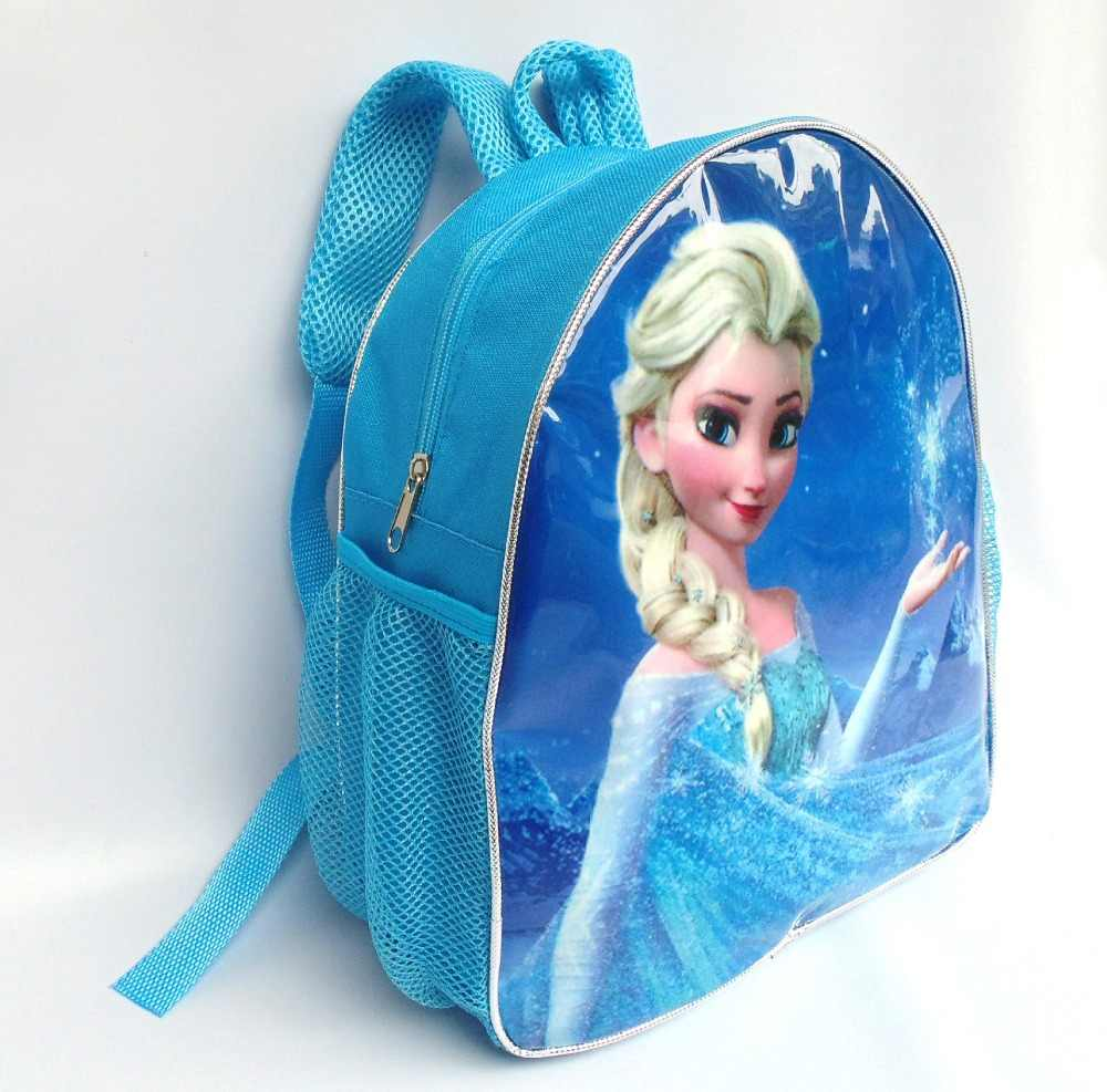 Disney cartoon backpack frozen princess elsa school bag children travel backpack