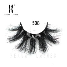 HEXUAN 25mm Long 3D mink lashes extra length eyelashes Big dramatic Mink Lashes 100% Cruelty free Handmade fake