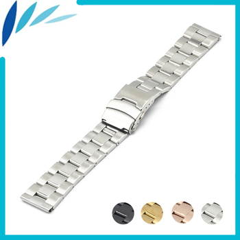 Stainless Steel Watch Band 18mm 20mm 22mm 24mm for Tudor Safety Clasp Strap Loop Belt Bracelet Black Rose Gold Silver + Tool silicone rubber watch band 22mm 24mm for fossil stainless steel clasp strap wrist loop belt bracelet black spring bar tool
