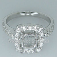 Vintage Cushion 5mm Solid 18Kt White Gold Diamond Ring SR267