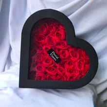 Вечная красная роза, коробка, искусственное мыло, цветок, подарок, сердце, коробка, День Святого Валентина, подарок подруги для женщин, свадебное украшение
