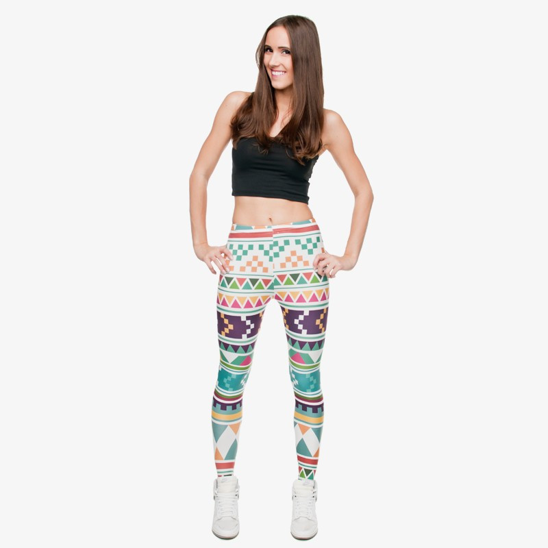 Zohra Brand New Fashion Aztec Printing legins Punk Women's Legging Stretchy Trousers Casual Slim fit Pants Leggings 21