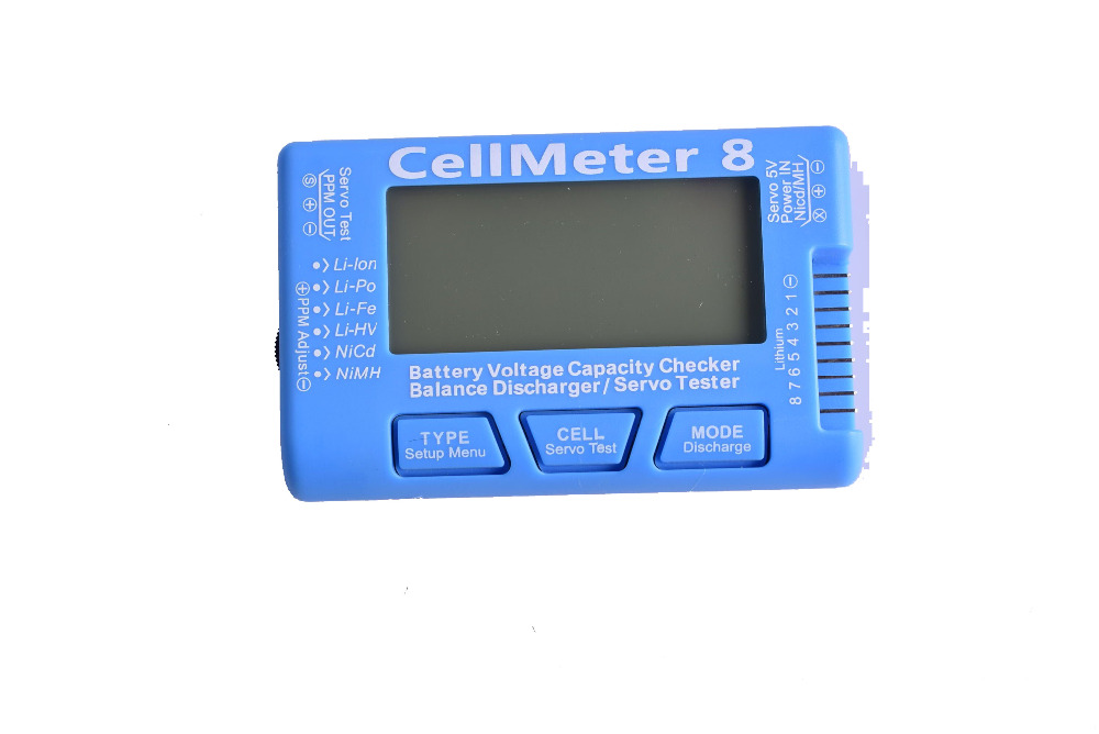 CellMeter RC CellMeter8 Battery Brushless <font><b>Motor</b></font> Servo Checker Tester <font><b>2S</b></font>-8S LiPo Life Li-ion NiMH Nicd image