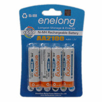 BPI: 2100 enelong love husband low self discharge NiMH rechargeable battery AA 5 Rechargeable Li-ion Cell
