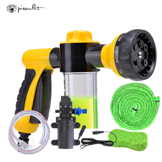 Car Washer Gun Pump High Pressure Cleaner Car Care 12V Portable Washing Machine Electric Cleaning Auto Device Self-priming Tool