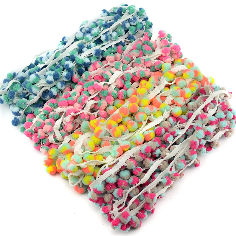 Dropwow 5m Lot 1.2Cm Colorful Pom Pom Trim Ball Fringe Ribbon DIY Sewing  Accessory Lace For Home Party Decoration Tape Supplies Hot Sale 7833eef2e59c