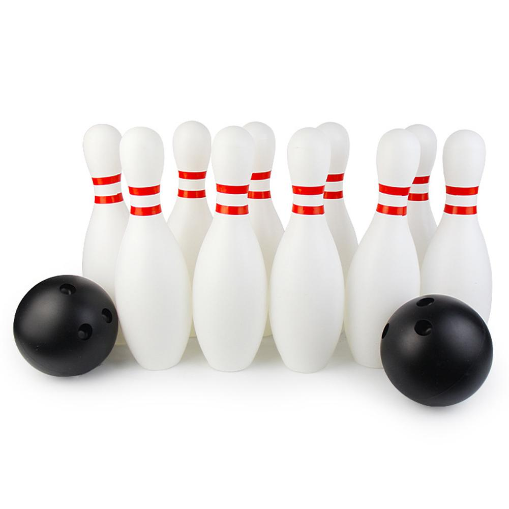12Pcs/Set Toddler Kids Bowling Game Set Outdoor Indoor Sports   Interaction Leisure Toys Children Funny Grass Floor Play Toys