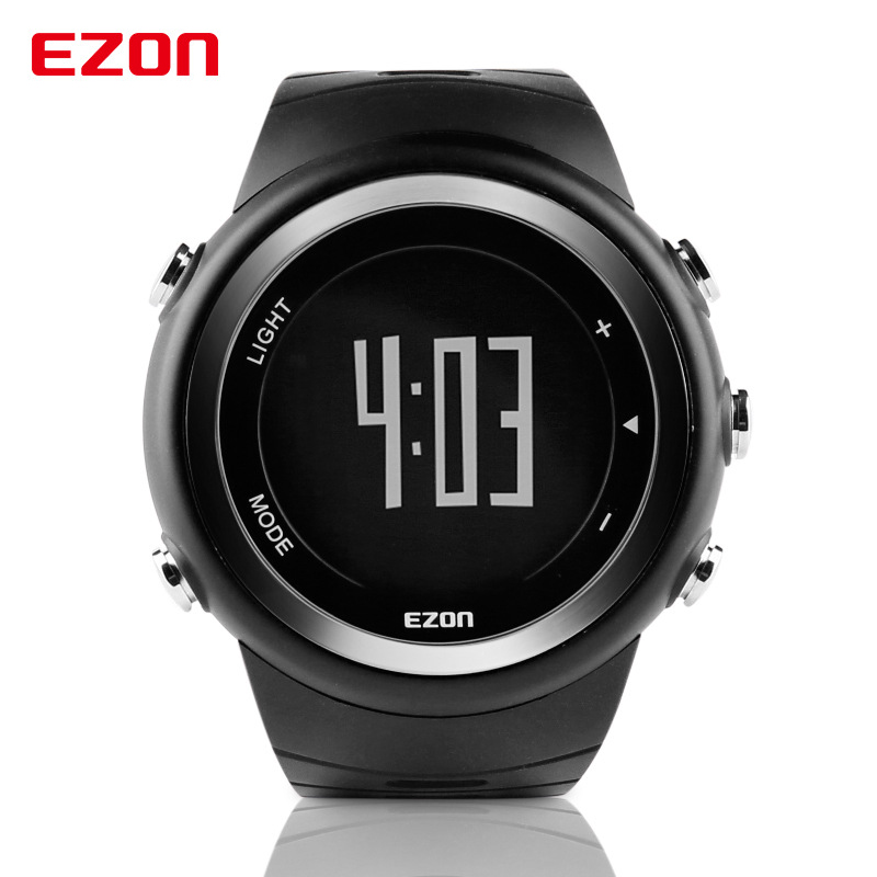 Fitness Pedometer Calorie Monitor Sport Digital Stop Watch Men EZON Outdoor Sports Waterproof 50m Chronograph Wrist Watches стоимость