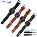 Venda quente para cinta genuína pulseira de couro 24mm para suunto suunto núcleo essencial inteligente relógios acessórios