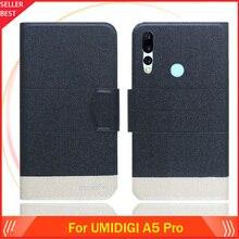 5 цветов Лидер продаж! UMIDIGI A5 Pro Чехол-книжка на заказ ультратонкий кожаный эксклюзивный чехол для телефона Модный чехол-книжка с отделениями для карт