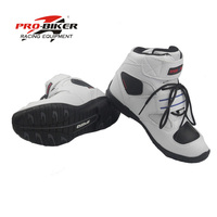 Pro biker men boot for motorcycle chaussure moto boots motorbike boots bota motocross racing shoes speed black pro biker Size 45