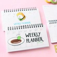 Продажа Мини сашими неделю план книга памятки 80 листов еженедельно ежедневно планировщик суши ноутбук дневник-органайзер канцелярские школьные принадлежности F501