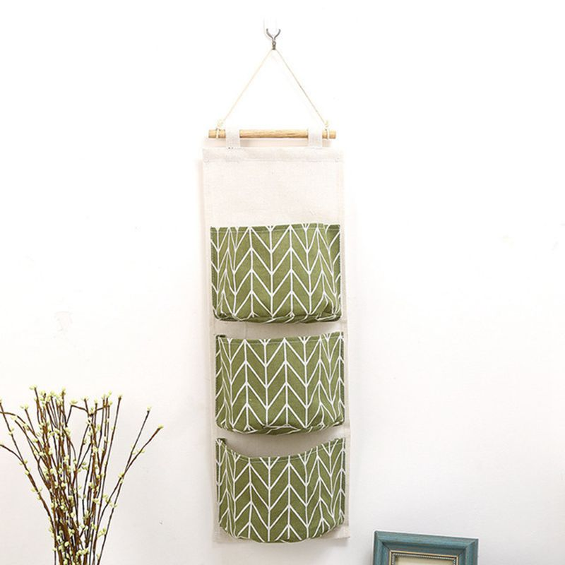 Image 5 - Cotton Hanging Organizer Pockets Multilayer Fashion Wall Door Hanging Storage Bag Cloth Storage Bag-in Hanging Organizers from Home & Garden