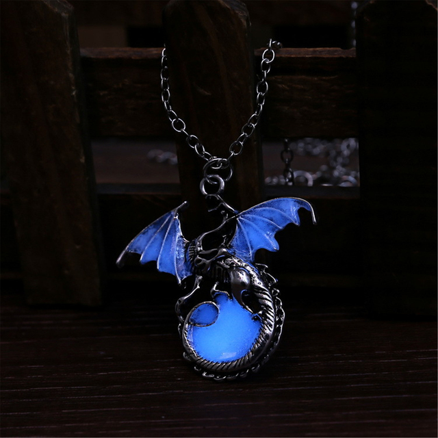 Game of Throne Luminous Dragon Pendant Necklace