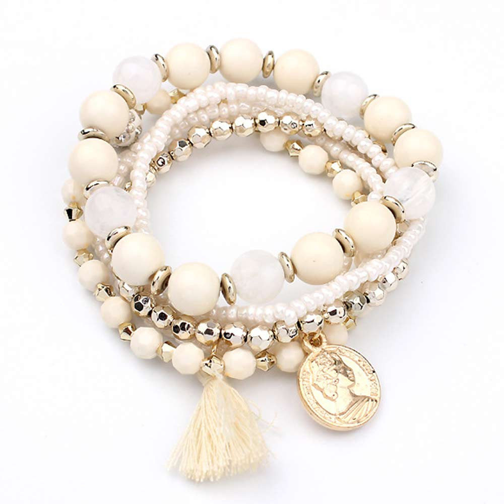 Cute Bohemian Colorful Beaded Bracelets Set Bracelets Jewelry Women Jewelry