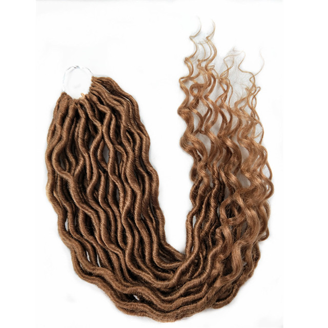 Pervado Hair Synthetic Soft Faux Locs Curly Crochet Braiding Hair Extensions 22inch 70g/Pack 24strands/Pack Goddess Hairstyle by Pervado Hair