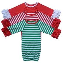 Домашний наряд для маленьких девочек, платье с рукавами реглан и оборками, рождественское платье для новорожденных девочек, персонализированное детское платье, подарок для душа