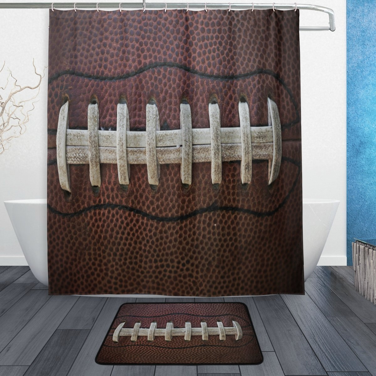 Buy sport shower curtains and get free shipping on for Best place to buy fabric for curtains
