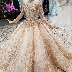 Image 3 - AIJINGYU מרוקאי חתונה שמלות ארוך סקסי חלוק הנחה מלכת Pricess אורח את חנות כלה תחרה שווי שרוול