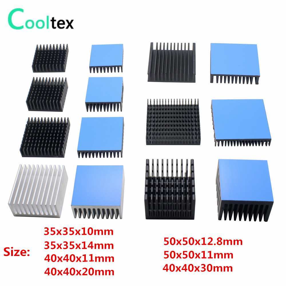 7 model Aluminum Heatsink Heat Sink Radiator Cooling cooler For Electronic Chip IC LED computer With Thermal Conductive Tape thermal pads conductive heatsink thermal silica sheet viscous adhesive for chip cpu gpu ram led ic cooler led radiator cooling