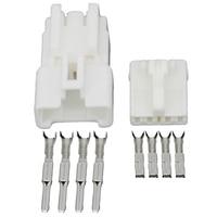 Chaqueta de 4 pines conectores automotrices conectores blancos automotrices con Terminal DJ7044Y-2.2-11/21 4 P