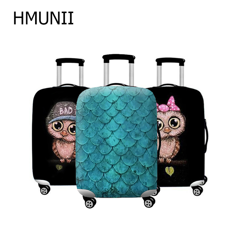 HMUNII Brand For19-32 inch Lady Suitcase Protect Dust Covers Travel Necessity Elastic Thicken Luggage Suitcase Protective Cover