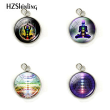 Fashion Chakra Reiki Healing Charm Buddha Yoga Meditation Pendant Spiritual Om Symbol Hope Jewelry Stainless Steel Pendant Gift(China)