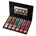 Pro Makeup Set 78 Full Color Eyeshadow Lip Gloss Blusher Palette Eye Shadow Cosmetics Beauty Tools With 2Pcs Brushes