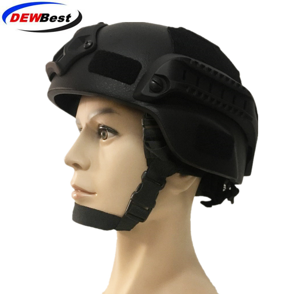 DEWBest Ballistic ACH High Cut Tactical Helmet Bulletproof FAST Aramid Safety NIJ Level IIIA Military Army