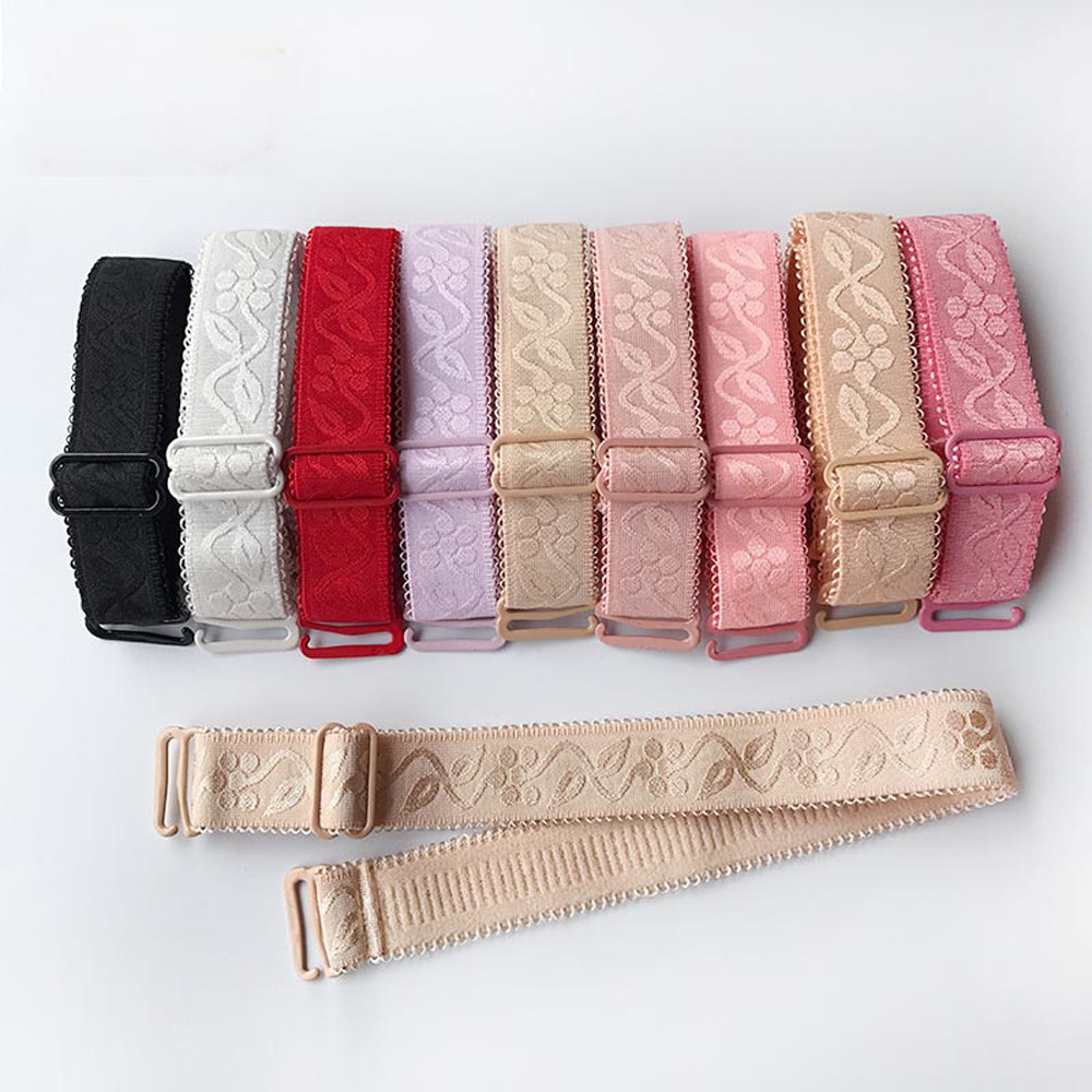 La MaxPa 1 Pair 1.5cm Width Women Slip Resistant Bra Straps Women Double Shoulder Elastic Lady Bra Strap Accessories K250